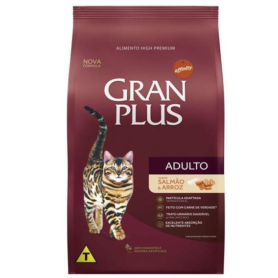 Ração Gran Plus Gatos Adulto Salmão E Arroz 1kg