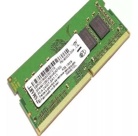 Memória Notebook 4gb Ddr4 2400t Mhz Smart