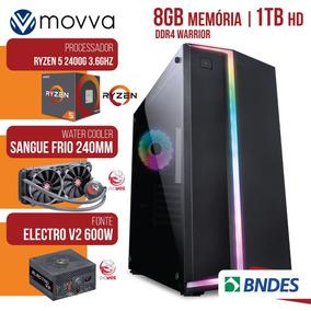 Pc Gamer Amd Ryzen 5 2400g 3.6ghz/8gb/1tb Water Cooler/600w