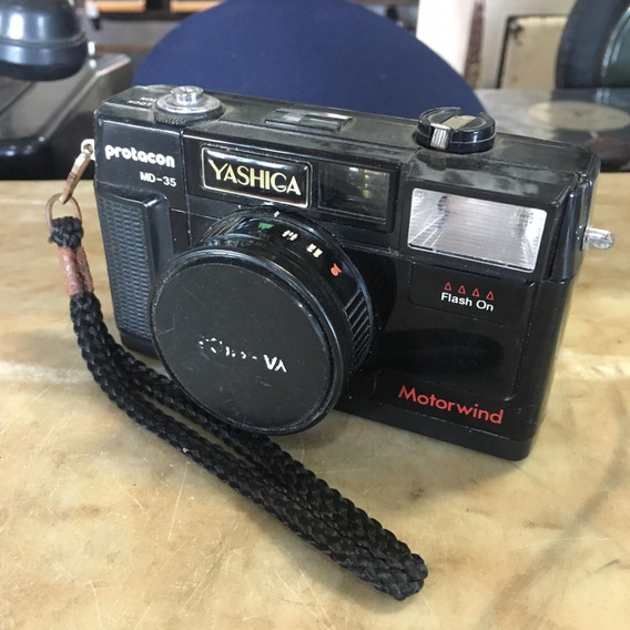 Câmera Fotográfica Yashica Md 135 Antiga Ñ Canon Nikon 1509