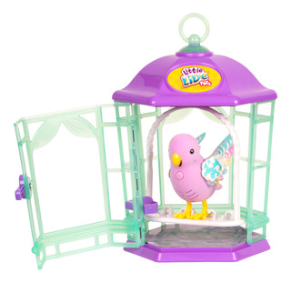 Little Live Pets Bird With Cage, Rainbow Glow
