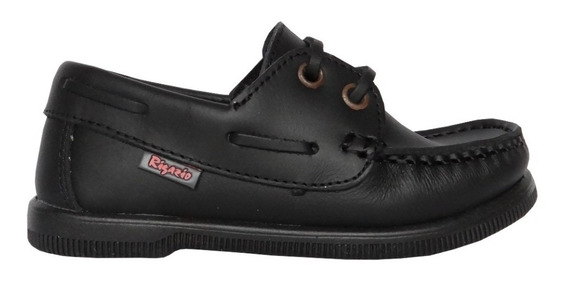 Zapato Náutico Cuero Colegial Rigazio Con Cordón