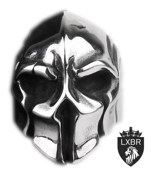 Anel Aço Inox 316l Spartano 300 Punk Moto Caveira Cavaleiro Templario Metal Inox Medieval Cruz Malta Lxbr A151