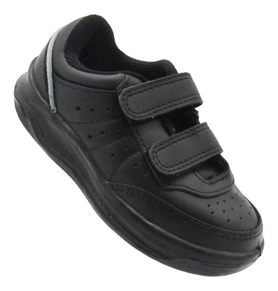 Zapatillas Topper X Forcer Kids Velcro Negro 26 Al 32 23579