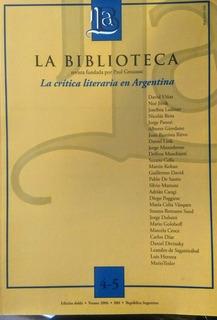 Revista La Biblioteca N 4 5 Critica Literaria Bn Stelmo
