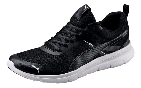 Tenis Puma Flex Essential Negro 365268-01 Look Trendy