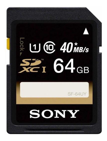 Cartão Memória Sony Sdxc 64gb
