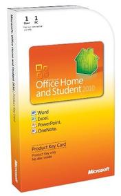 Microsoft Office Home & Student 2010 Clave Del Producto De L