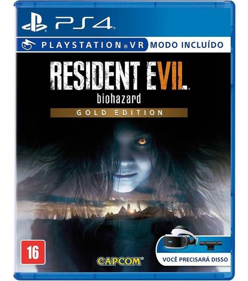 Resident Evil 7 Gold Edition - Ps4 - Mídia Física - Novo
