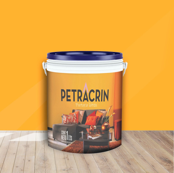 Pintura Latex Exterior Color Amarillo X 1 Lts Sin Interes