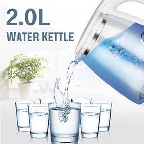 2l Elétrico Azul Led Chaleira De Água Vidro Chá Quente Calde