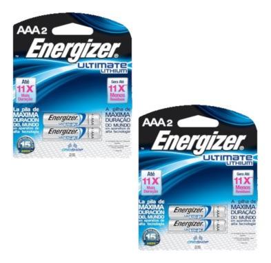 Conjunto 4 Pilhas Energizer Ultimate Lithium Aaa
