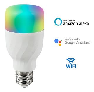 Bombillo Rgb Wi-fi Inteligente Google Home Mini Amazon Alexa