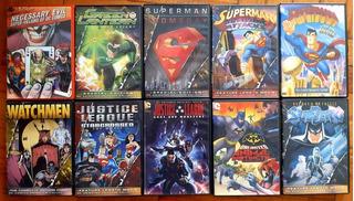 Lote X10 Películas Dvd Animadas Dc Comics Superman Batman