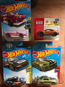 4 Miniaturas Coleção, 3 Hot Wheels 1 Tomica, Carro Japones