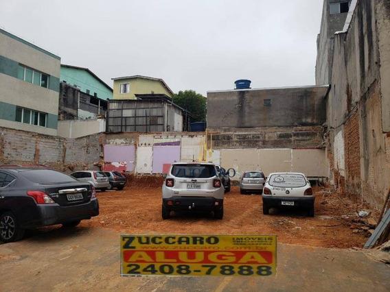Terreno Comercial, 500m² Para Locação, Timóteo Penteado Guarulhos. - Te0859