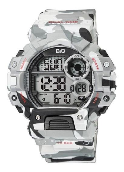 Reloj Q & Q Citizen M144j006 - Camuflaje Gris - Cronometro