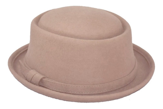 Sombrero Pork Pie Tipo Hipster Elegante Unisex