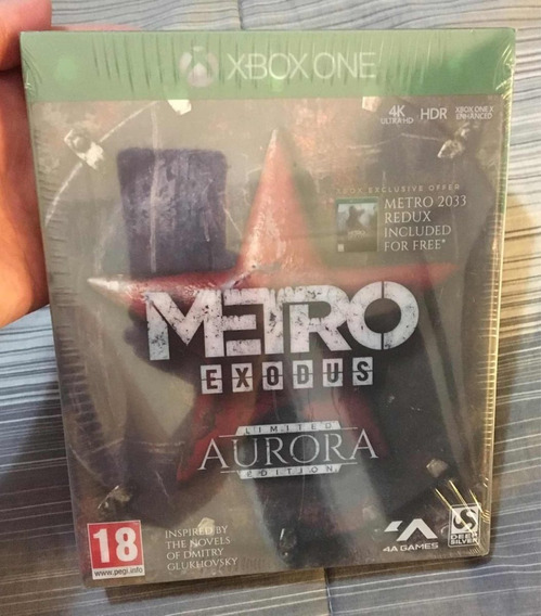 Metro Exodus Limited Aurora Edition Xbox One Novo Lacrado