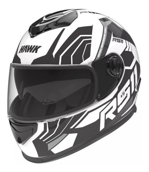 Casco para moto integral Hawk RS11 revo blanco mate talle L