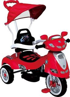 Triciclo Bebe Musical Niño Niña Bebes Paseador Montable Moto