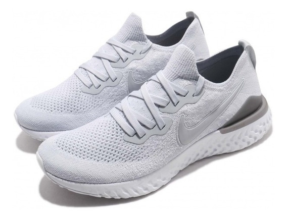 Zapatillas Running Nike Epic React Flyknit 2 Platinum Us7