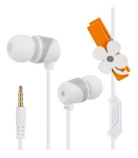 Auricular Blanco Keeka Con Microfono Ee59
