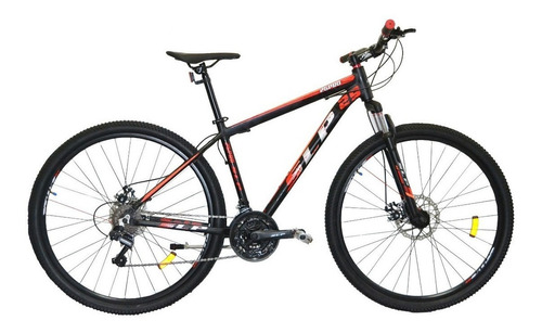 """Mountain bike SLP 25 Pro R29 20"""" 21v frenos de disco mecánico cambios Shimano Tourney TZ31 y Shimano Tourney TZ500 color negro/naranja"""