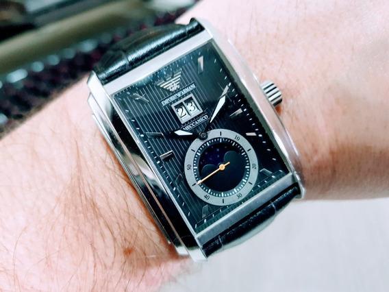 Relógio Emporio Armani Meccanico Fases Da Lua - Ar4211