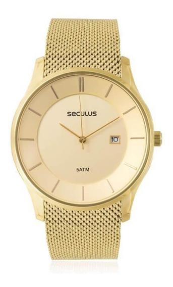 Relógio Feminino Seculus Analógico 20430gpsvda3 Dourado