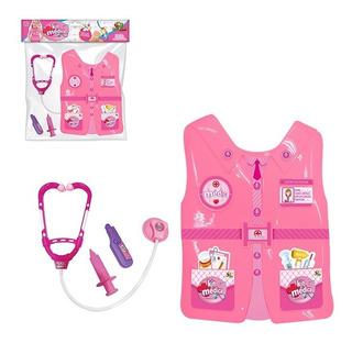 Colete Brinquedo Kit Médica Com 3 Acessórios