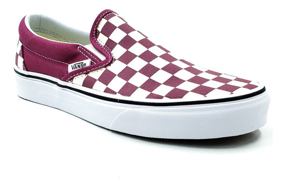 Vans Authentic Clasic Slip-on Rosa Blanco Unisex