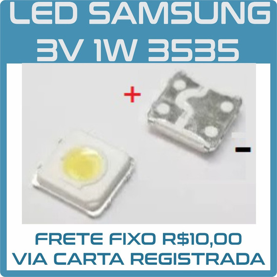 Kit 100 Led Tv Samsung Backlight 3v 1w 3535 | 3537 Original