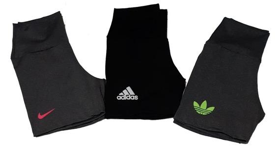 Shorts Curto Feminino Academia Fitness Kit 7 Peças Atacado