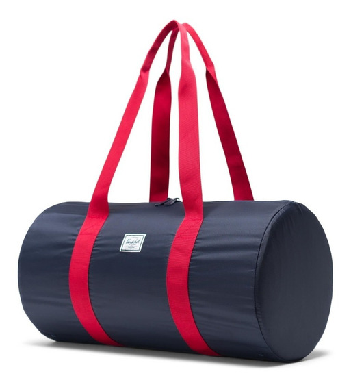 Bolso Plegable Herschel Packable Duffle Navy/red
