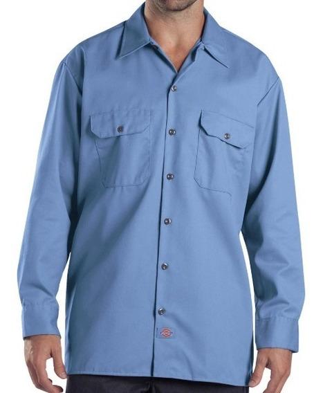 Camisa Dickies 574 Manga Larga Trabajo Azul Golfo