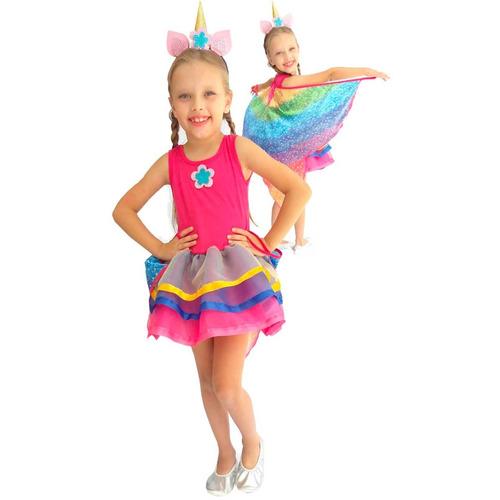 Fantasia De Carnaval Infantil Unicornio Charming Com Asas Mercado Livre