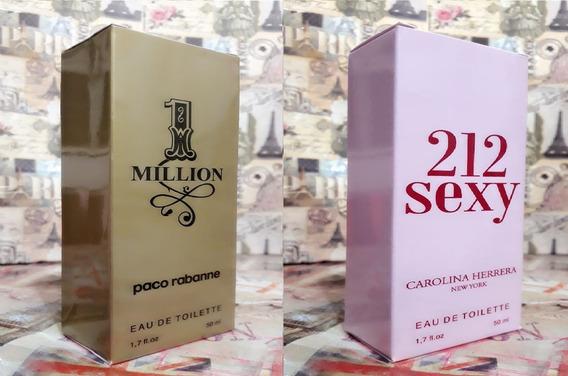 Kit Promoção Perfumes,one Million Masculino/212sexy Feminino