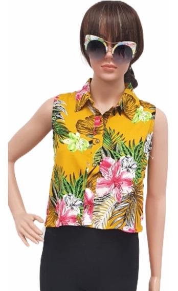 Blusa Primavera Verano Estampado Sexy Moda Mujer Junior