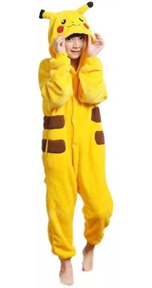 Pijama Kigurumi Pikachu Infantil Nene Niño Bebe Importado