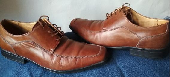 Zapatos Hombre Cuero Marron Clasico Urbano Oggi