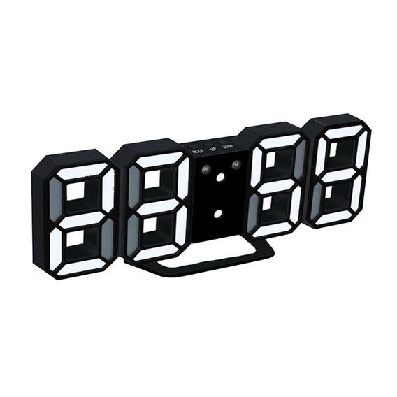 Alarme Digital Led 3d Preto