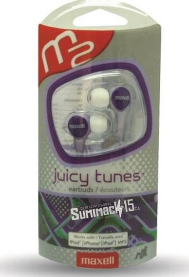 Audifonos Maxell Tipo Boton Juicy Tunes Verde