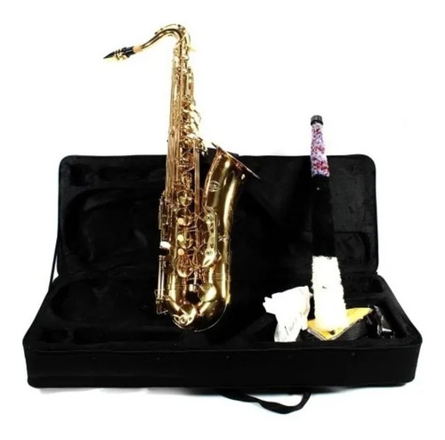 Saxofone Sib Tenor Jahnke Dourado  Novo - Somos Loja -