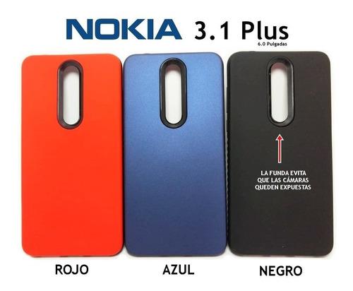 Funda Rigida Lisa Soft Protege Cámara Nokia 3.1 Plus Rosario