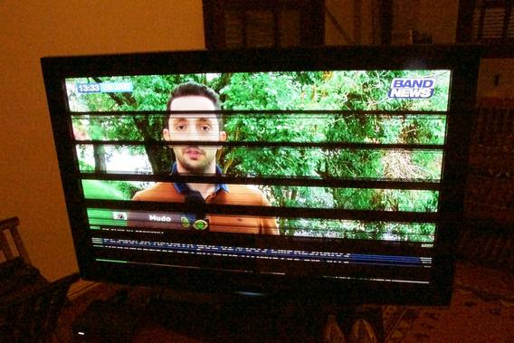 Televisor À Plasma Samsung 47com Defeito Na Tela