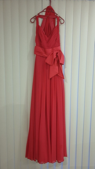 Vestido De Fiesta Rosa Usado Una Sola Vez Muy Bonito