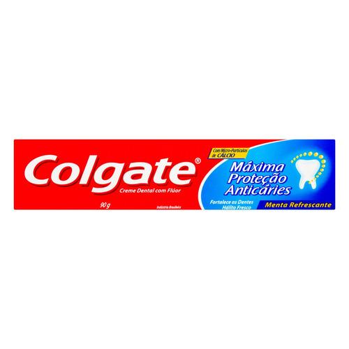Pasta de dentes Colgate Máxima Proteção Anticáries Menta Refrescante  em creme 90g