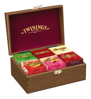 Twinings Of London Caixa De Madeira Chá 60 Sachês A Escolher
