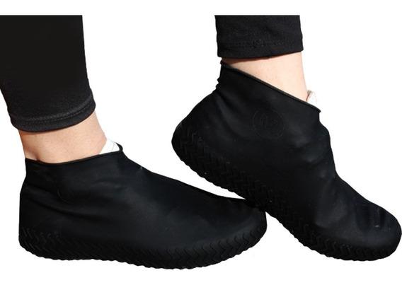 Protetor Sapato Sapatilhas Silicone Chuva Água Limpeza